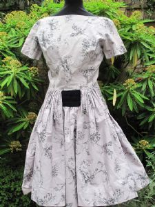1950's Dove grey high quality vintage cotton dress Horrockses **SOLD** es 75